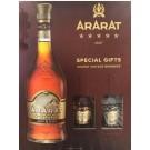 ARARAT BRANDY ARMENIAN 5YR 750ML GFT PACK W/ 2 50ML