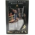 JOHNNIE WALKER SCOTCH BLENDED BLACK GIFT SET 750ML