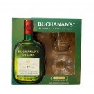 BUCHANANS SCOTCH BLENDED GFT PK W/ 2 GLASES 12YR 750ML
