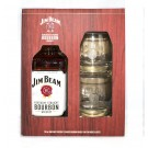 JIM BEAM BOURBON KENTUCKY GIFT PACK With 2 ROCK GLASSES 750ML