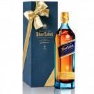JOHNNIE WALKER SCOTCH BLENDED BLUE LABEL W/ GOLD PEN 750ML