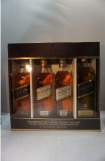 JOHNNIE WALKER SCOTCH BLENDED COLLECTION (BLU BLK GLD PLT ) 4X200ML