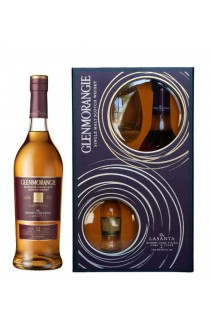 GLENMORANGIE SCOTCH SINGLE MALT LASANTA SHERRY CASK FINISHED GFT PK W/ 50ML ORIGINAL & GLASS 12YR 750ML