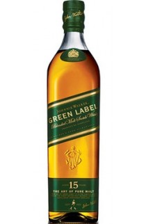 JOHNNIE WALKER SCOTCH BLENDED MALT GREEN LABEL 86PF 15YR 750ML