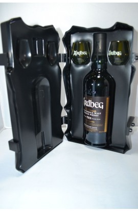 ARDBEG SCOTCH SINGLE MALT ISLAY GFT TIN ARDBONE 10YR 92PF 750ML