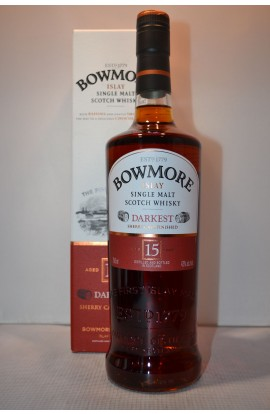 BOWMORE SCOTCH SINGLE MALT DARKEST CHERRY CASK 86PF 15YR 750ML
