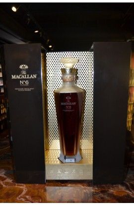 MACALLAN SCOTCH 1824 SERIES NO 6 SINGLE MALT IN LALIQUE HIGHLAND 86PF 750ML