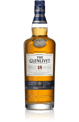 GLENLIVET SCOTCH SINGLE MALT 86PF18YR 750ML