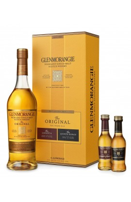 GLENMORANGIE SCOTCH SINGLE MALT ORIGINAL HIGHLAND GFT PK W/ 2 50ML 750ML