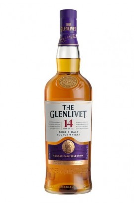 GLENLIVET SCOTCH SINGLE MALT COGNAC CASK SLECTION 14YR 750ML ($5 COUPON APPLIED BY PERNOD MAX 5 BOTTLE PER PURCHASE)