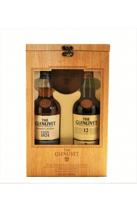 GLENLIVET SCOTCH SINGLE MALT COMBO GIFT  PACK FOUNDERS RESERVE / 12 YEAR 2X750ML