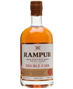 RAMPUR WHISKEY SINGLE MALT DOUBLE CASK INDIA 750ML